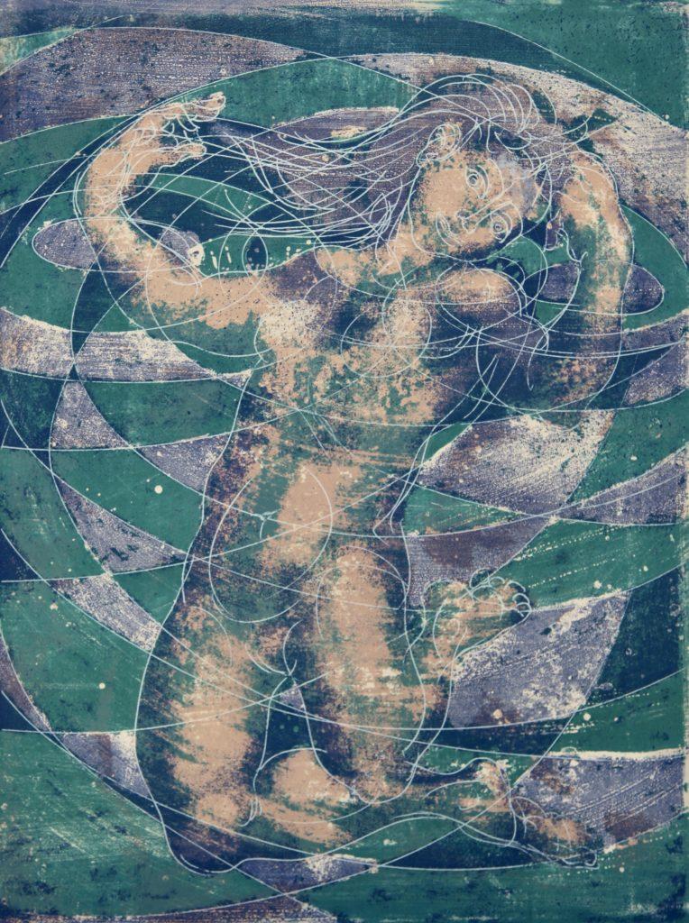 """Hans Erni: """"Sommer"""". Lithographie Nr. 84/150 (76,4 x 54,9 cm). 1968. Nr. 284 im Werkverzeichnis der Lithografien (Hans Erni-Stiftung, 1993). Aus Privatsammlung (Schweiz)."""